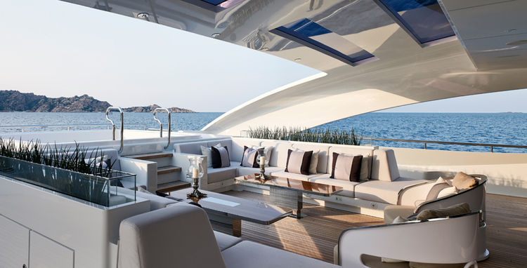 Detail collective luxury yacht interiors galactica star images via bannenberg