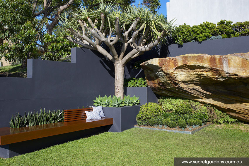 Outdoor spaces coastal garden caringbah sydney for Garden designs sydney