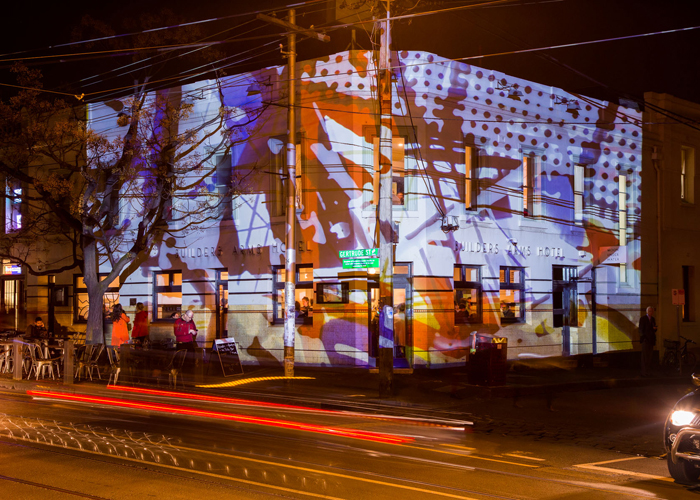 Detail Collective | Gertrude Street Projection Festival 2014 | Images via GSPF Instagram