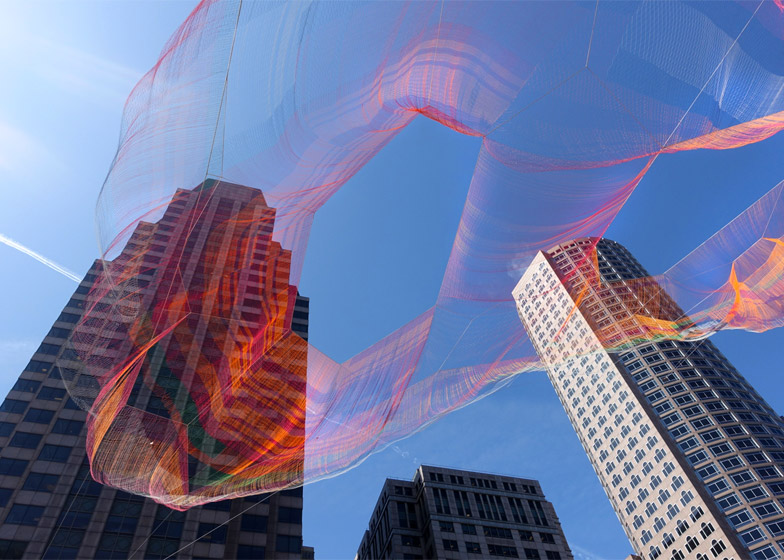Detail Collective | Design | Installation Art by Janet Echelman| Image: Melissa Henry via Janet Echelman