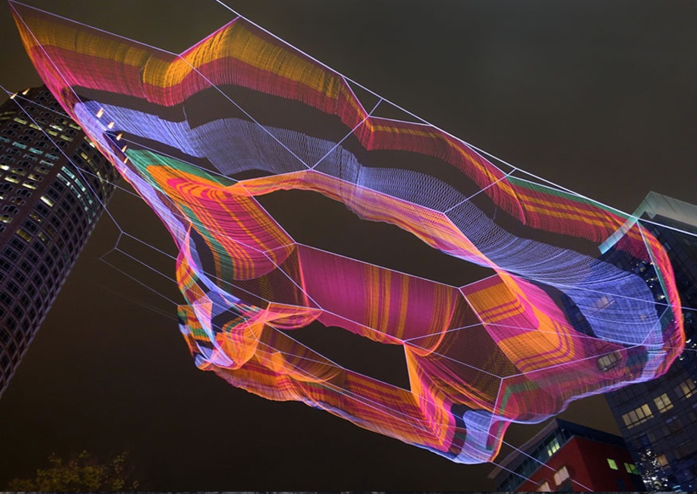 Detail Collective | Design | Installation Art by Janet Echelman | Image: Melissa Henry via Janet Echelman