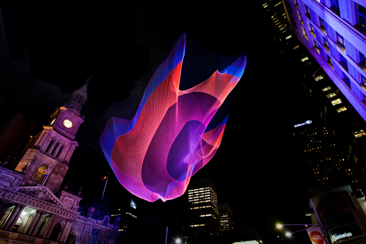 Detail Collective | Design | Installation Art by Janet Echelman | Image: Via Janet Echelman