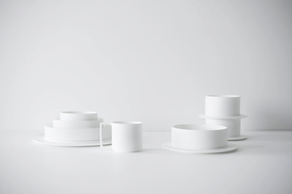 Detail Collective | Product | Porcelain Dinnerware by Finell | Image: via  Design Milk