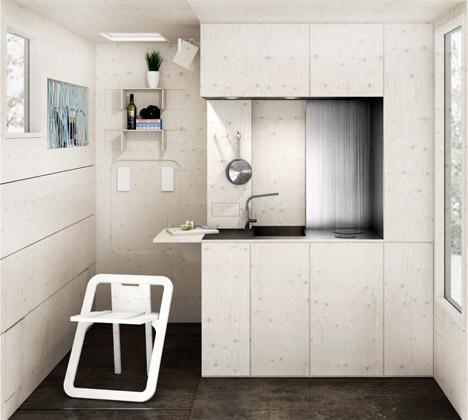 Detail Collective | Lifestyle | Low Cost Housing | Image: Railway Micro Home/Zablotny &Maszotia Dezeen