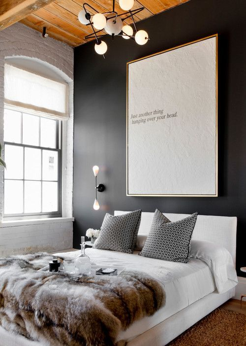 Detail Collective | Interior Spaces | Back to Black in the Bedroom | Image: via Nous Decor