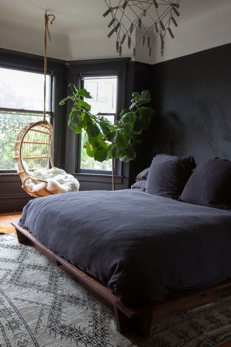 Detail Collective | Interior Spaces | Back to Black in the Bedroom | Image: via A Cup of Jo