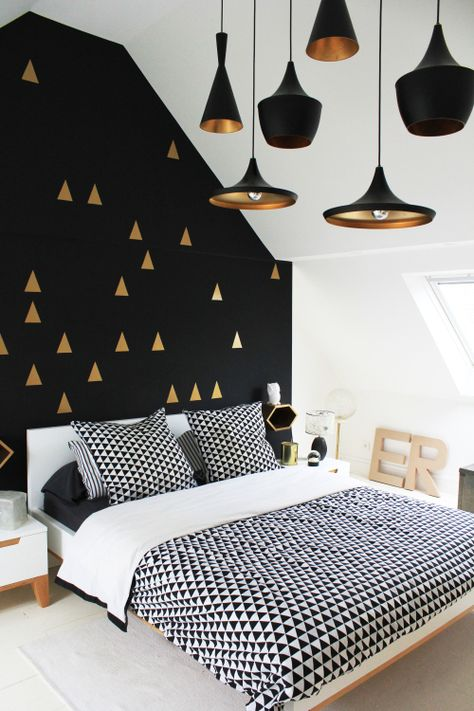 Detail Collective | Interior Spaces | Back to Black in the Bedroom | Image: via Design Sponge