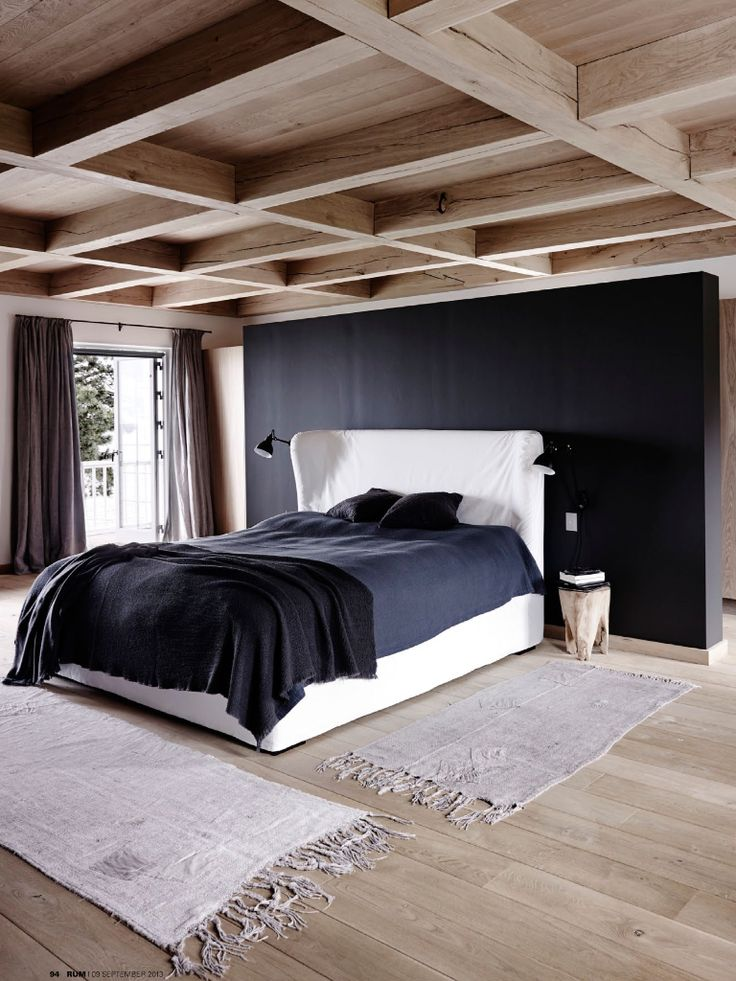 Detail Collective | Interior Spaces | Back to Black in the Bedroom | Image: via DigsDigs