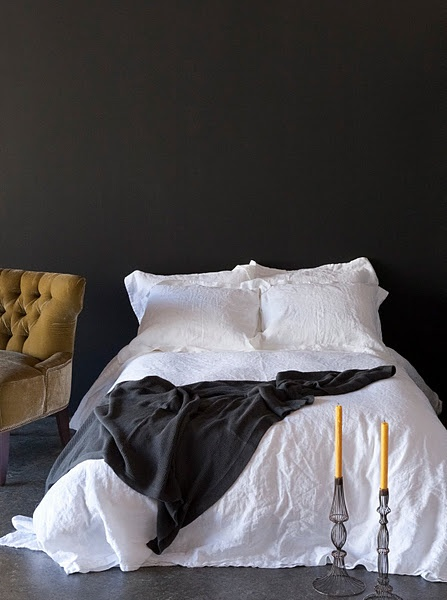 Detail Collective | Interior Spaces | Back to Black in the Bedroom | Image: via Bodie and Fou