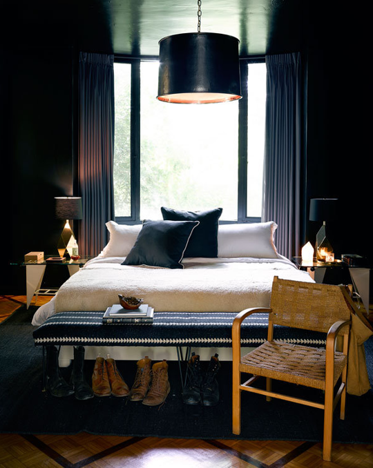 Detail Collective | Interior Spaces | Back to Black in the Bedroom | Image: Jeremiah Brent