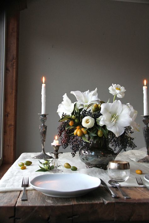 Detail Collective | Lifestyle | Holiday Entertaining - Table Design | Image:  Sarah Winward  via  Ruffled Blog