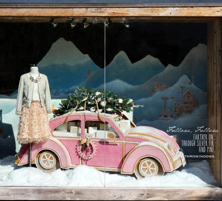 Detail Collective | Lifestyle | Best Christmas Windows 2015 | Image: Antropologie