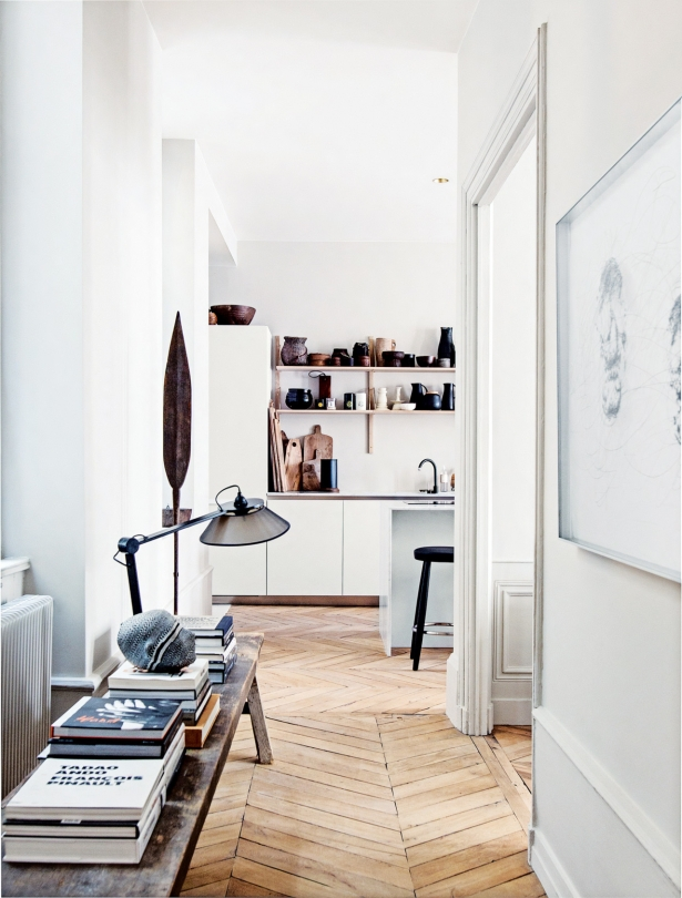 Interior Spaces Lyon Apartment by design duo Maison Hand Detail
