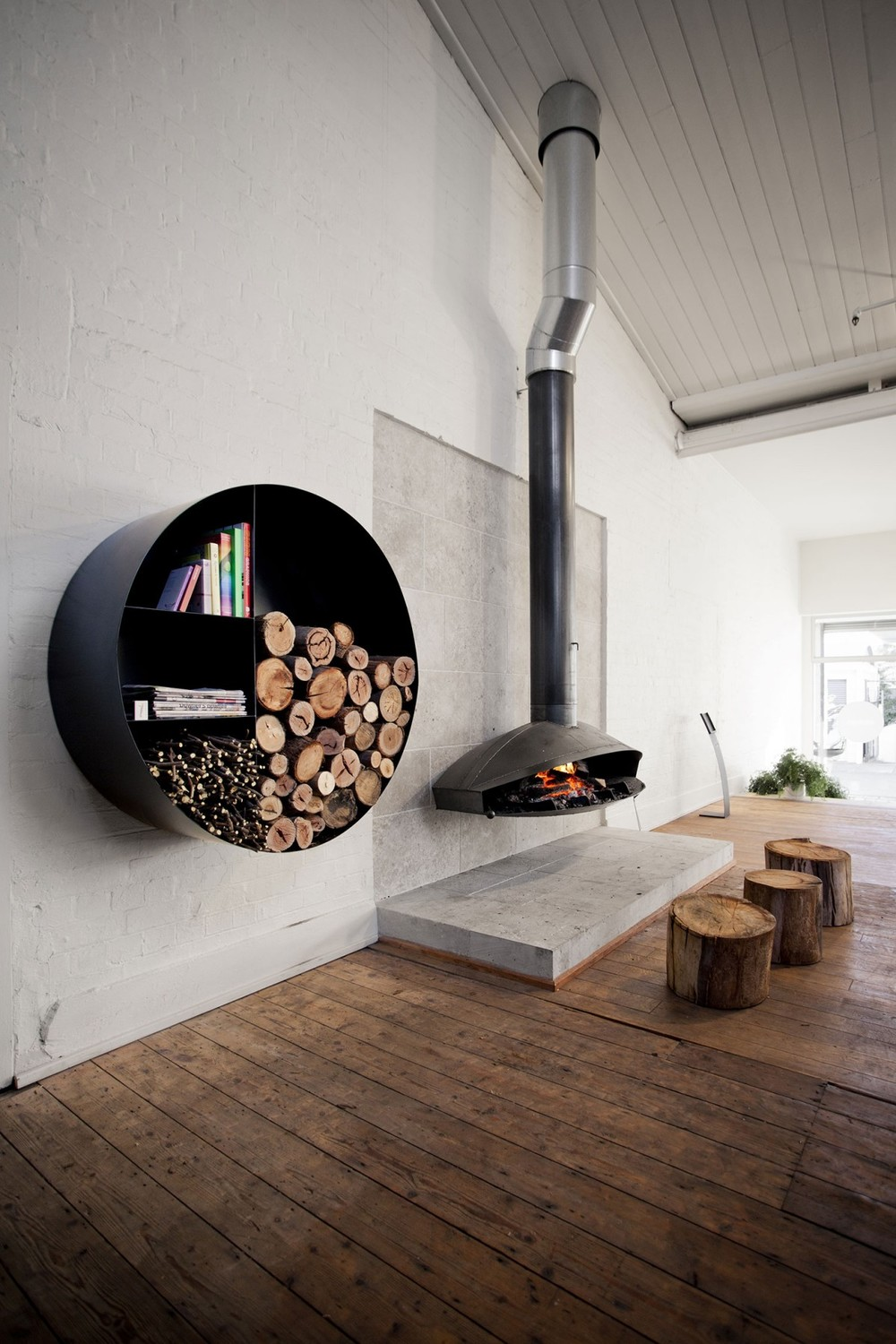 Detail Collective | Blog | Products | Oblica Fireplaces | Image: via  Oblica