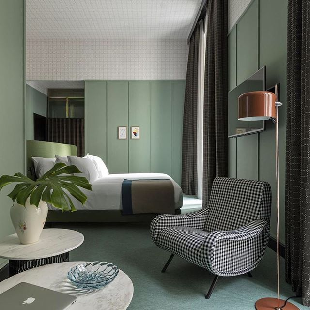 [BLOG] : Giulia Hotel in Milan designed by none other than Patricia Urquiola, is a delightful mix of classical and contemporary Milanese features combined with a sense of playfulness. #lovethatgreen