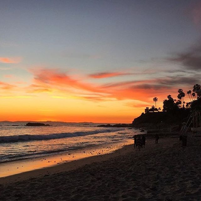 One year ago today, this was the sunset in Laguna Beach, CA. And it will always be one of my favorites because it was the night we got engaged ❤ #sentimentalaf #engaged #lagunabeach #oneyear #amilliontogo