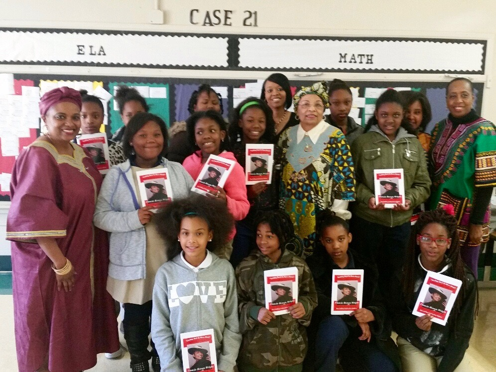 """February 18, 2016 -Author & Activist Flonzie Brown-Wright visits and speaks with5th Grade Mentees and for book-signing for her memoir, """"Looking Back to Move Ahead"""" An Experience of History, A Journey of Hope"""