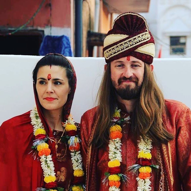 "wow, what an auspicious day! celebrating our wedding 5 years ago today in the holy city of Banaras + Donna's 3rd birthday + the release of my debut EP ""Mother Father Sister Brother"" under my new moniker Peel'd! @peeled.4.real"