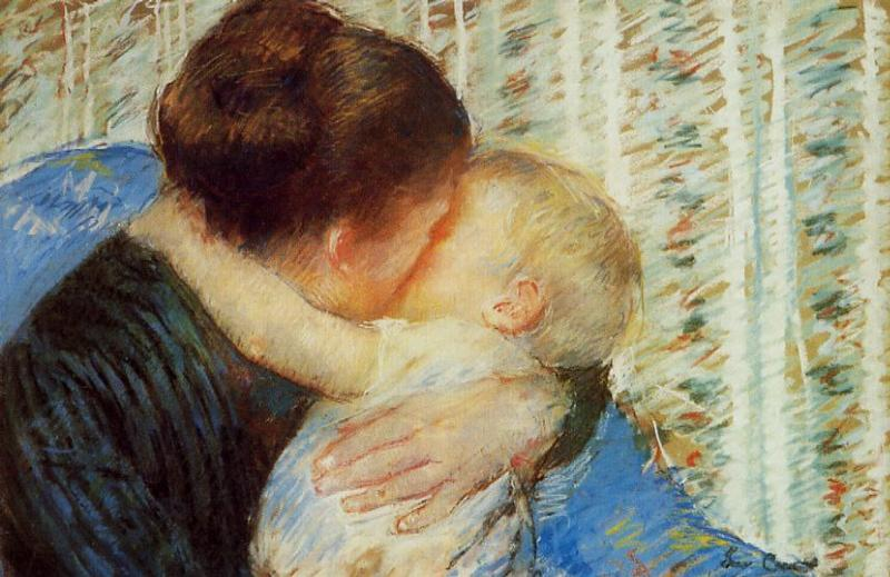 MOTHER AND CHILD :: MARY CASSATT