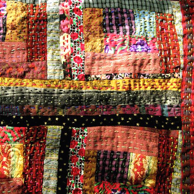 crazy little log cabin quilt