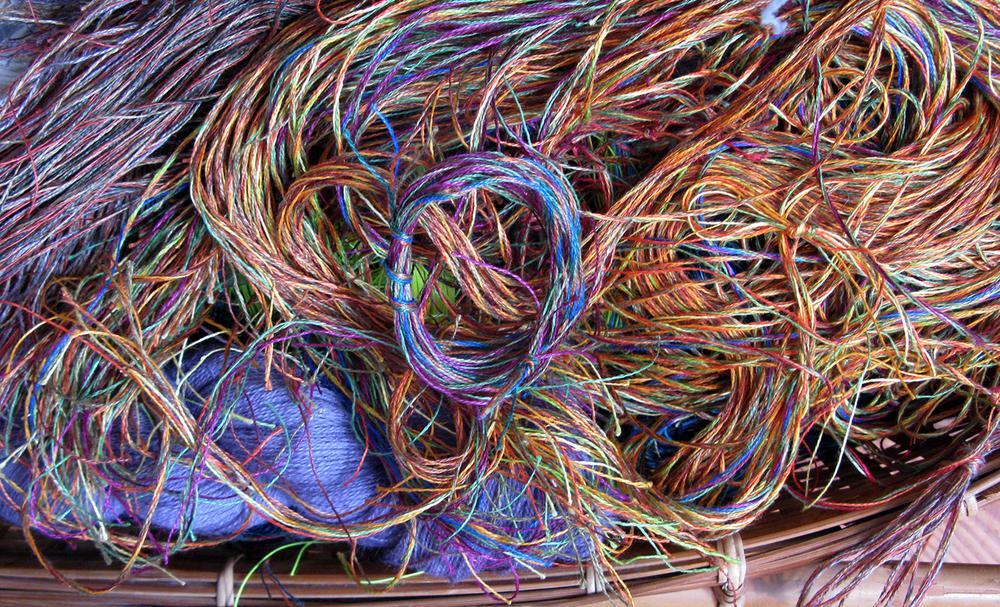 hernmarck - basket of threads