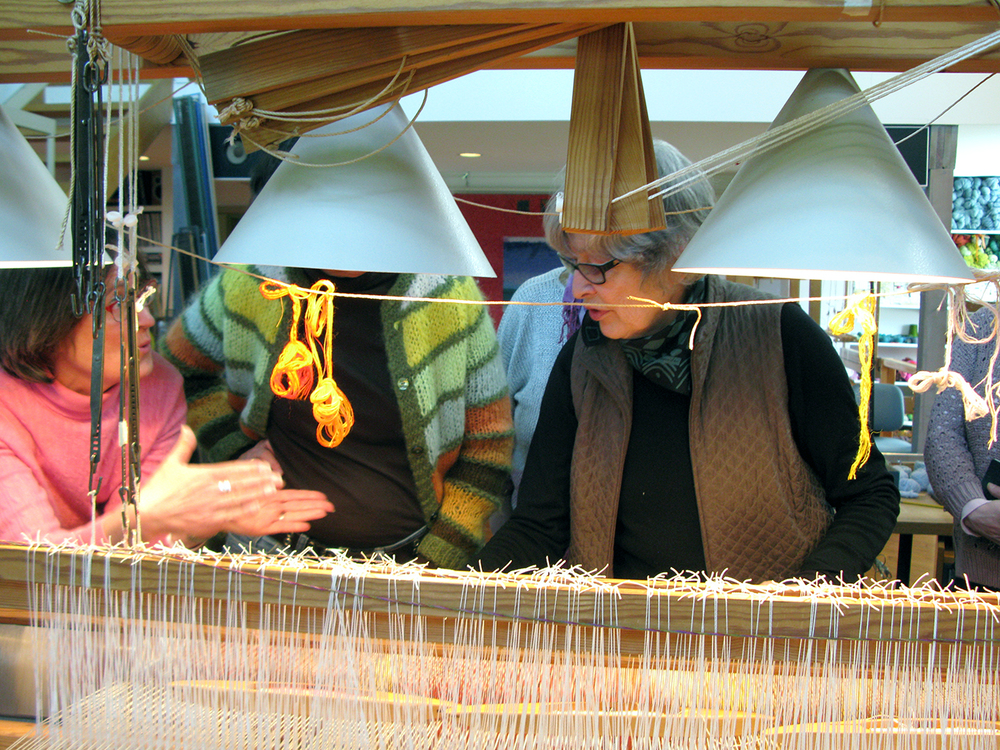 helena hernmarck at the loom