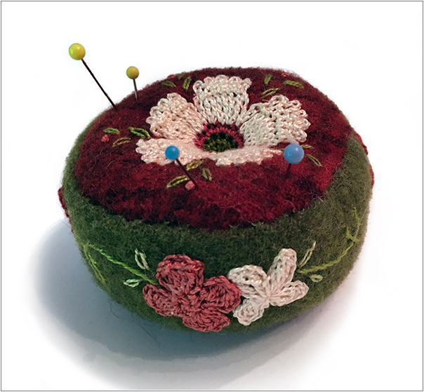 AWESOME PINCUSHION FROM DEBRA GANGELHOFF AT MANITOBAGIFTS