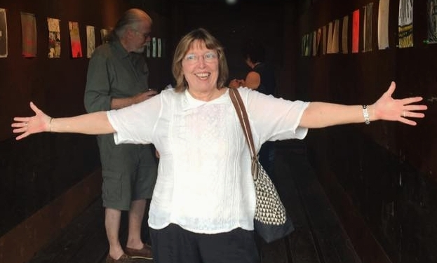 HERE I AM ON JULY 16 ... ABOUT FIVE WEEKS POST-DIAGNOSIS ... I WAS HAPPY ... GO FIGURE ...