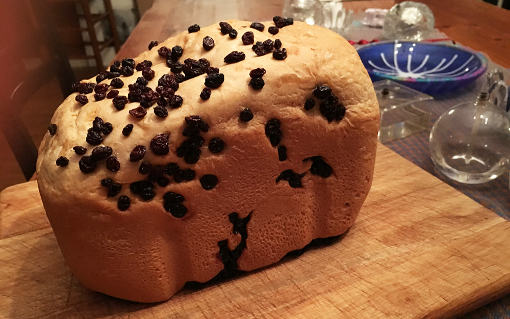 raisin-studded cinnamon bread
