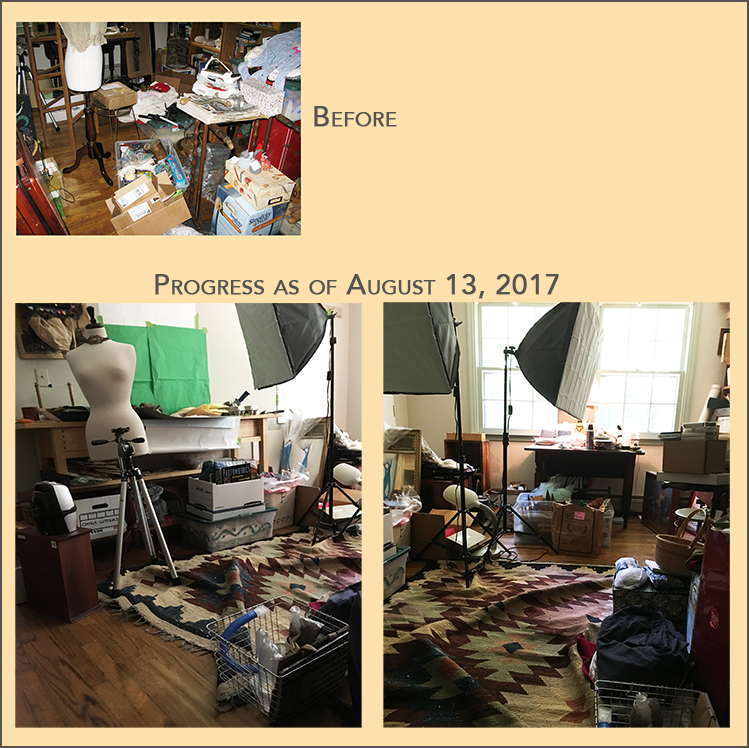 studio clean-up progress report 8-13-2017
