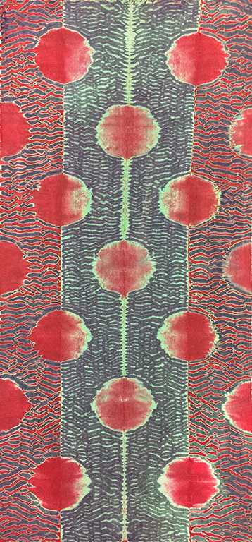 MARGUERITE FRENCH  :: RED MOONS :: dyed silk charmeuse