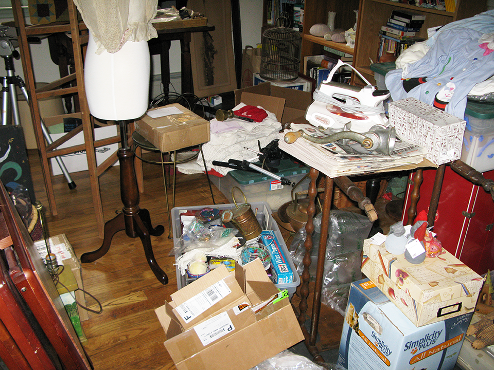 My studio - astonishingly out of control.