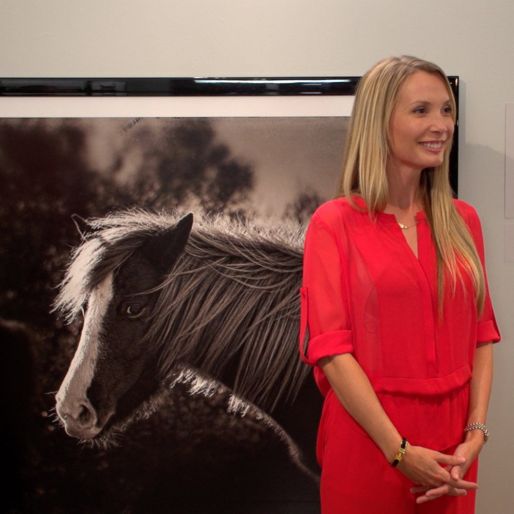 Discussing the print collection and Special Equestrians