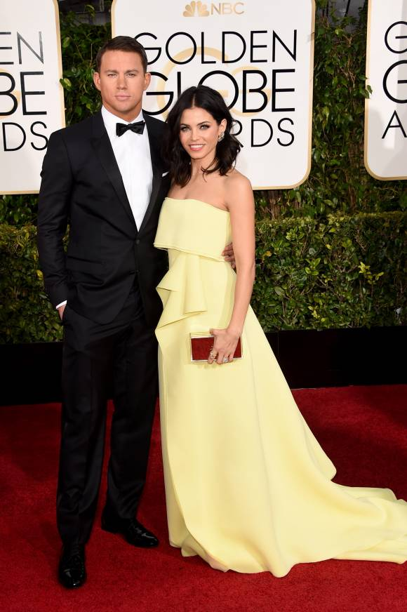 Channing Tatum and wife Jenna Dewan-Tatum in Caroline Herrera