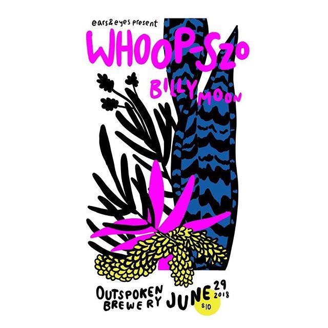 NEXT SHOW!  June 29 @outspokenbrewing  @outofsound @billymoon  Flyer @patersinister