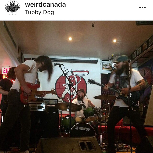 WHOOP-SZO in Calgary for @sledisland right now. Check em out this Friday in the Soo at Outspoken Brewing
