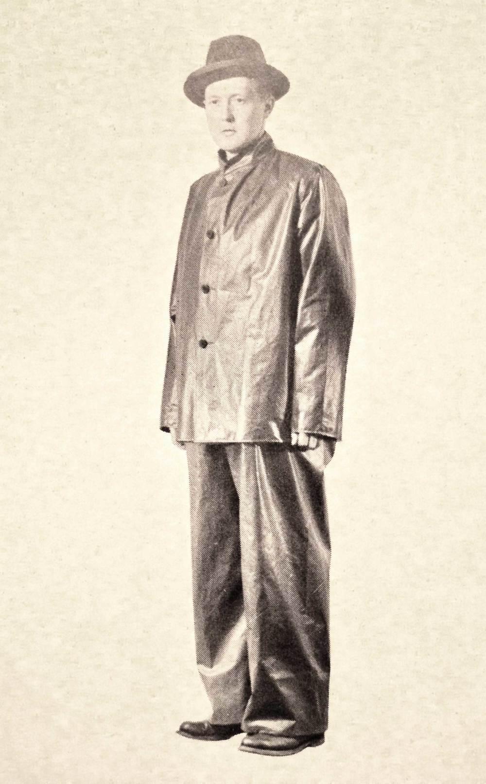 "One of the original ""City Rainwear"" jackets."