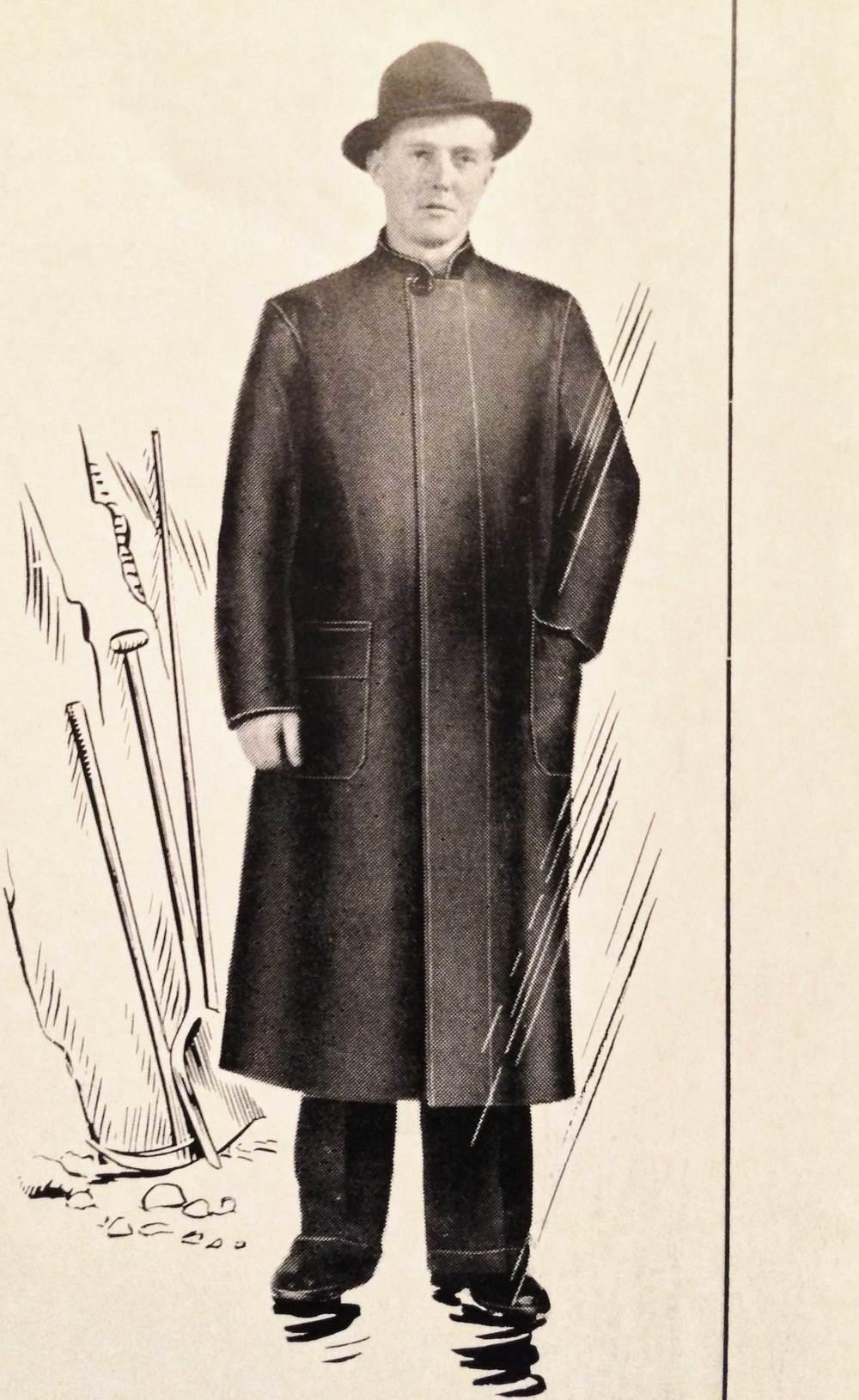 "One of the original ""City Rainwear"" coats."