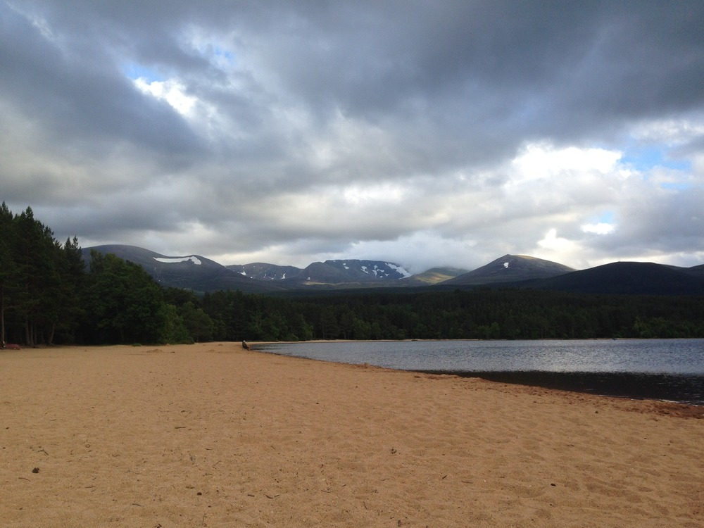 Loch Morlich with Cairngorm in the distance taken at 7pm