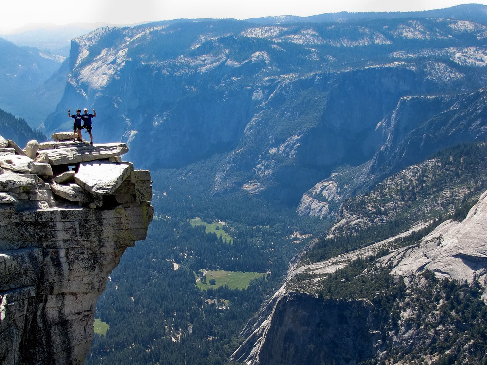 "Summiting Halfdome, Yosemite National Park, California - ""If we did all the things we are capable of, we would literally astound ourselves."""
