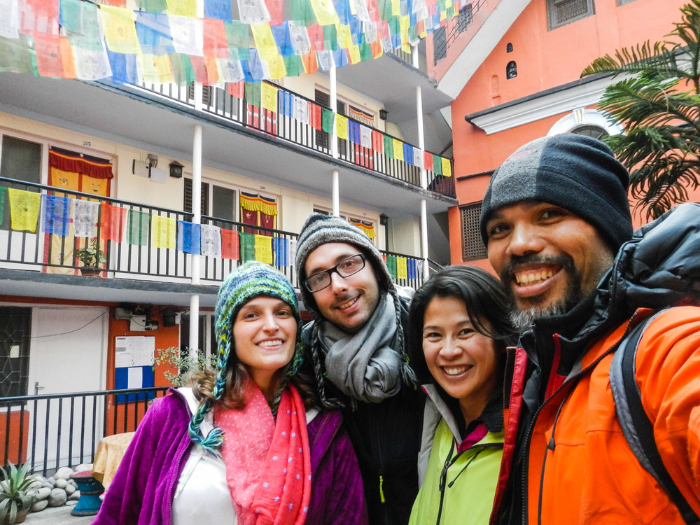 ....here in Kathmandu at the Himalayan Yoga guest house back in 2012!