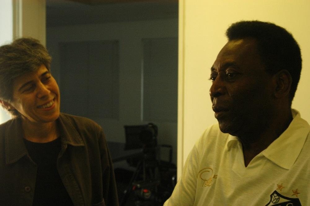 Lina Chamie e Pelé