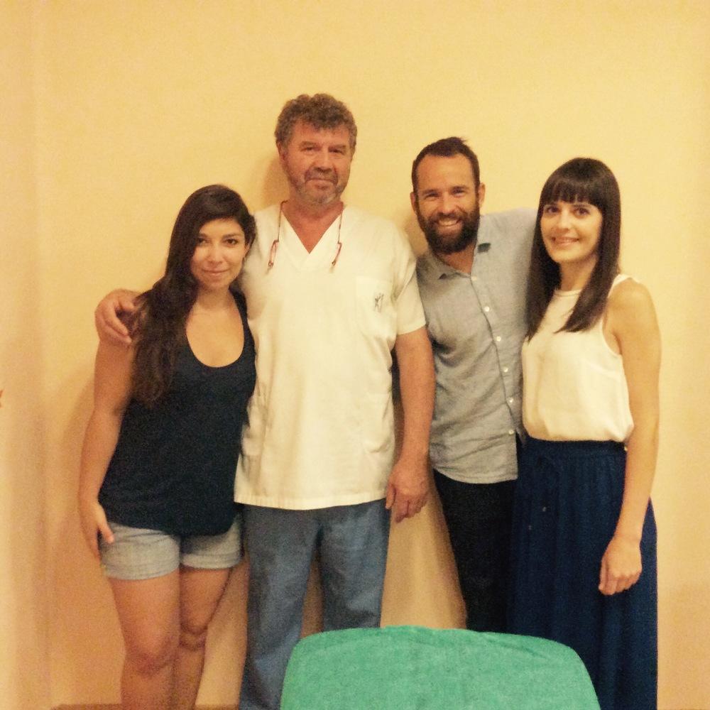 Equipo de Fisioterapia Vicetto con el Dr.Rubio