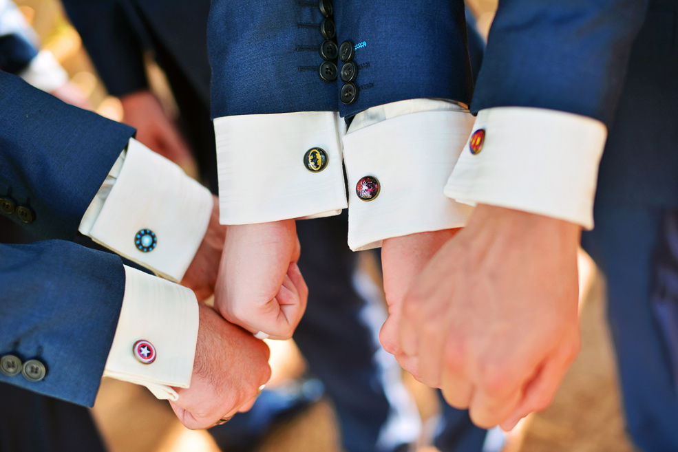 Groomsmen superhero cufflinks