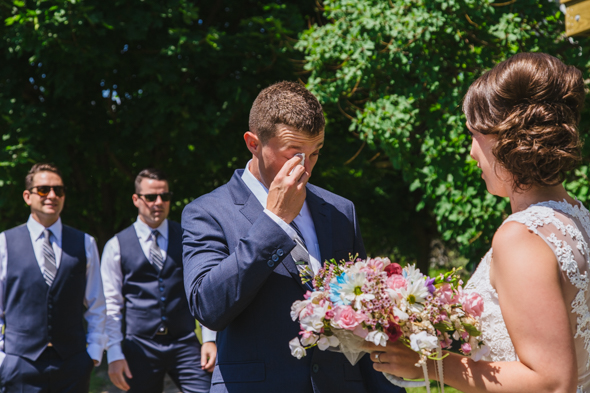 Groom First Look Crying - isos photography