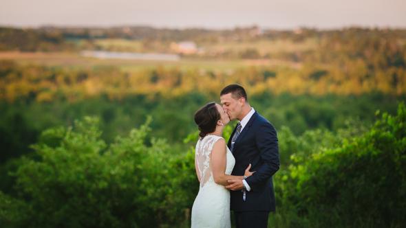 Sunset Wedding Photos - isos photography