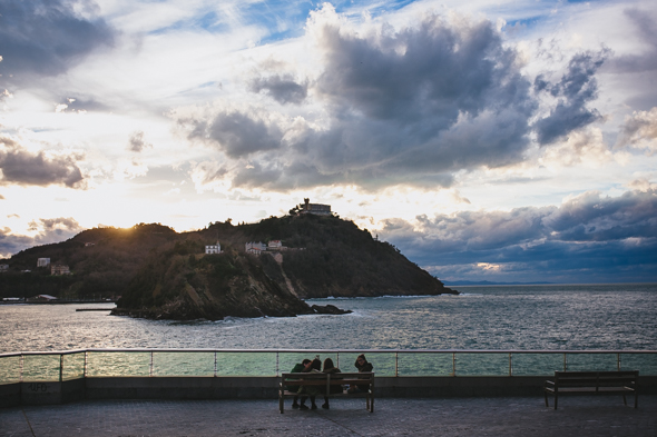 Sunset Engagement San Sebastian Spain