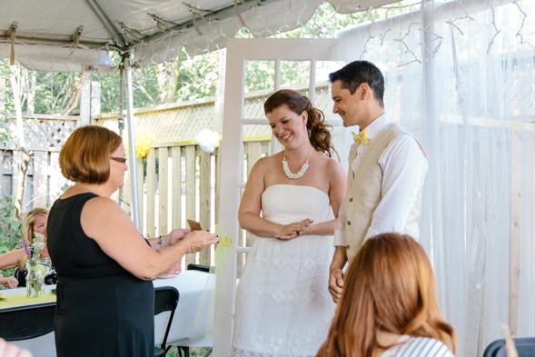 Backyard Wedding Pictures - isos photography