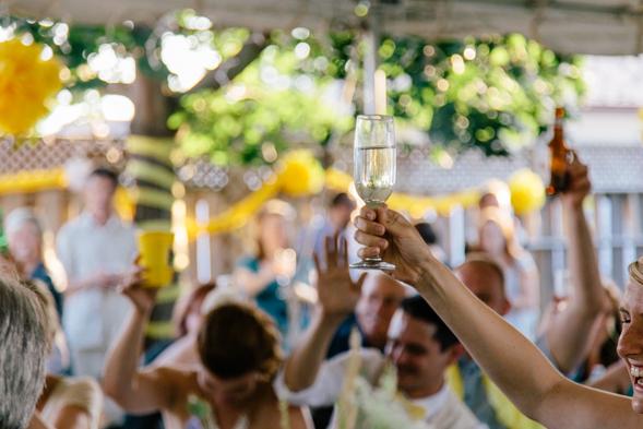 Wedding Toast - toronto backyard wedding