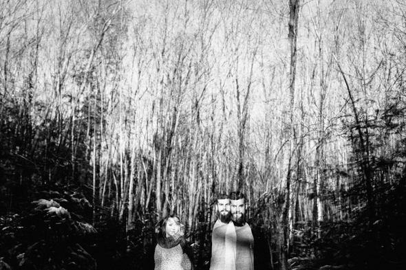 Artistic Double Exposure Couple - isos photography
